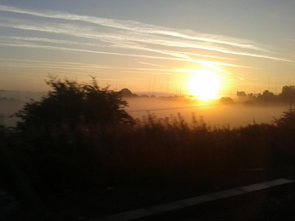 Sunrise from train September 2013