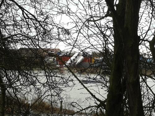 Plane in river at Irthlingborough