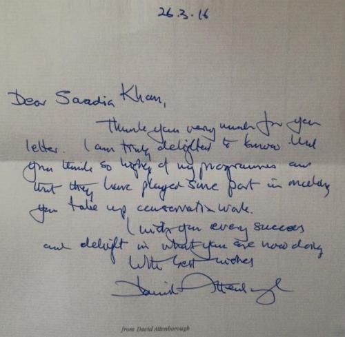 Saadias letter from Sir David