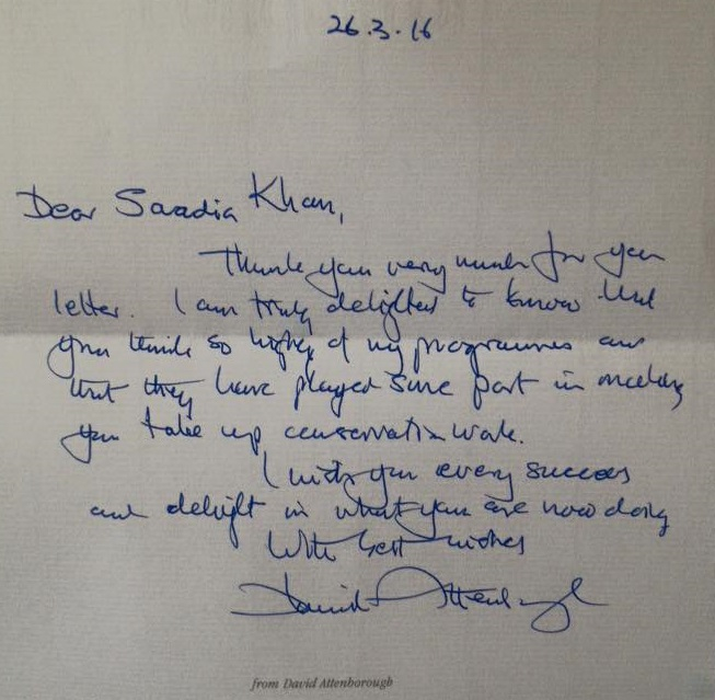 Saadias letter from Sir David
