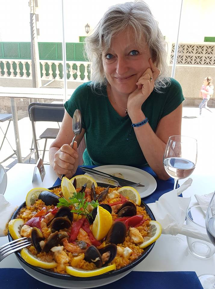 Karin and the paella.jpg