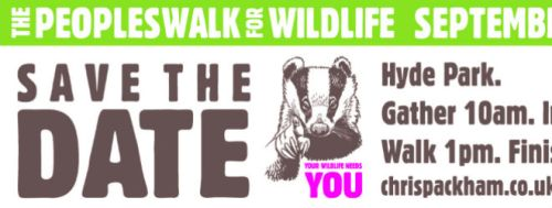 Peoples walk for wildlife